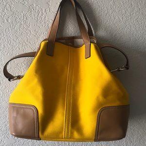 COACH cloth/leather purse